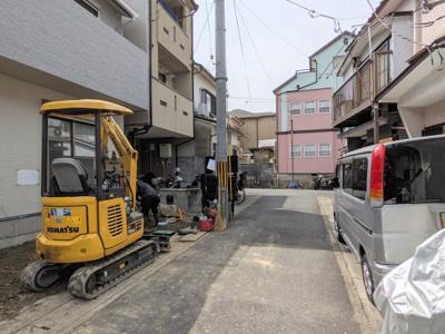 【前面道路含む現地写真】京都市山科区北花山河原町