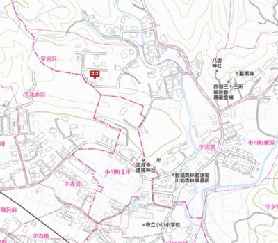 【地図】小川町柴原字宮沢74番地86 土地
