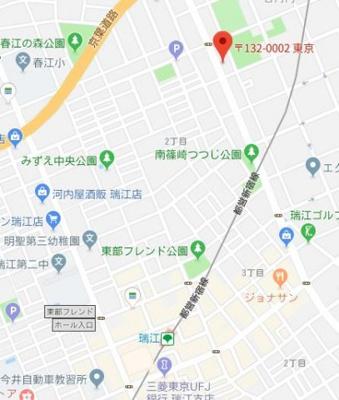 【地図】パークリオ瑞江