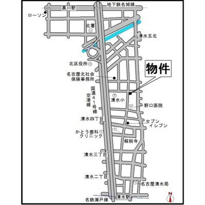【地図】パーク・ノヴァ清水