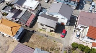 ドローンで撮影 敷地面積128.45平米 建物面積72.03平米 3LDK