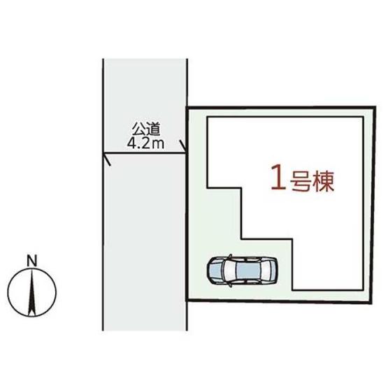 【土地図】箕面4丁目1号棟新築戸建