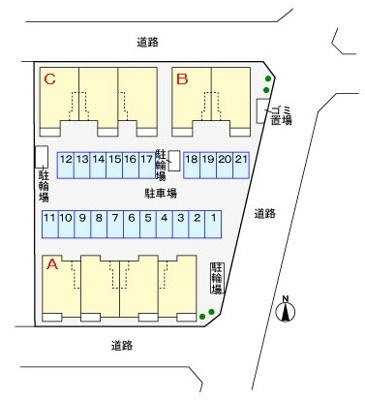 【駐車場】レジデンス藤B