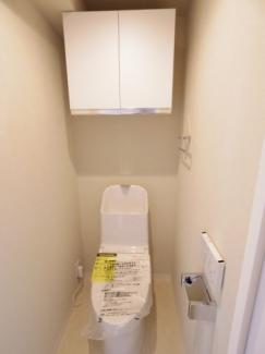ウォシュレット機能付きトイレ!新規交換しましたので安心して使用できます
