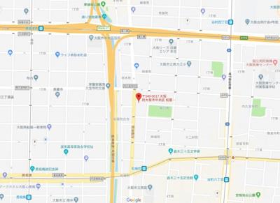 【地図】キャッスルプラザ松屋町