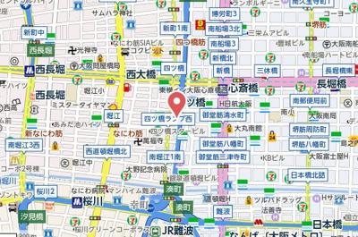 【地図】アステリオ北堀江ザ・メトロタワー