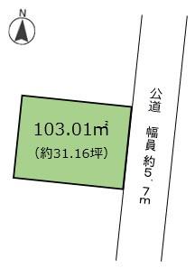 【区画図】川添町 売土地