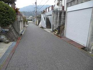 【前面道路含む現地写真】広島市東区馬木3丁目 やすらぎヶ丘