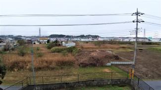 佐倉市城内町 中古戸建 佐倉駅 バルコニーからの景色です。遠くまで眺望良好です!