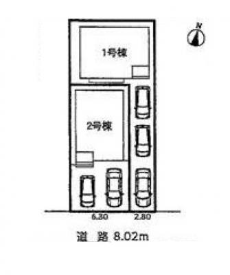 【区画図】守山区藪田町 2号棟<仲介手数料無料>