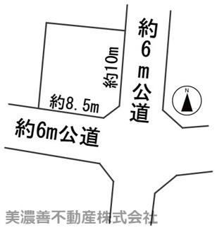 【区画図】56537 岐阜市西野町土地