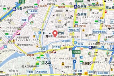 【地図】エスリード南堀江リバーサイド
