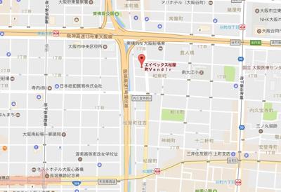 【地図】エイペックス松屋町ヴァンデュール