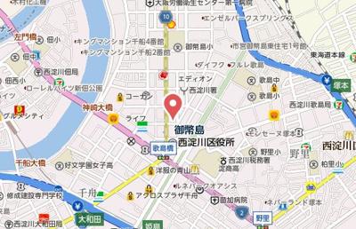 【地図】アソシアード御幣島