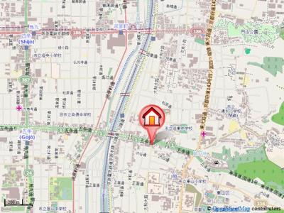 【地図】Est montagne五条(エストモンターニュ五条)