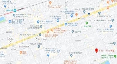 【地図】ダイドーメゾン芦屋