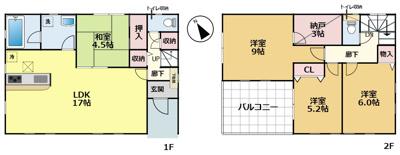 【区画図】大津市坂本3丁目5 新築分譲
