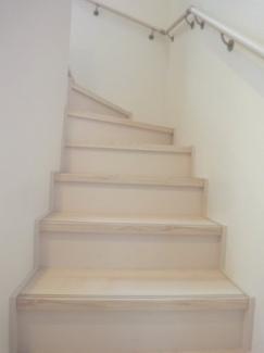 階段施工例です。