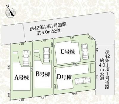 【区画図】新築一戸建て 南浦和1丁目