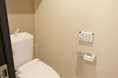 温水洗浄便座が付いています