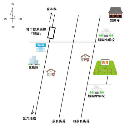 大人気の醍醐小学校・醍醐中学校エリアです