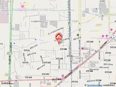 【地図】フォブール竹原