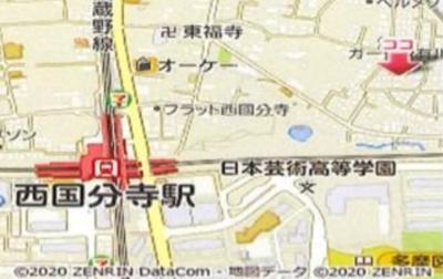 【地図】西恋ヶ窪コートハウス