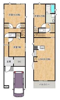 間取り参考プラン(2階建て) 他にも、3階建てプラン♪駐車場2台プラン♪ご用意しております!