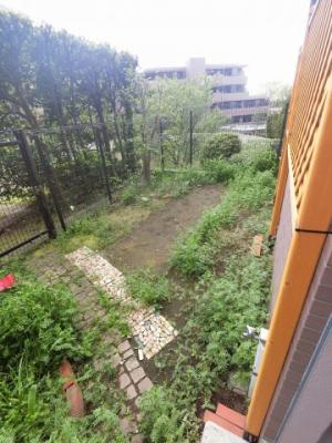 17.4平米の専用庭です。