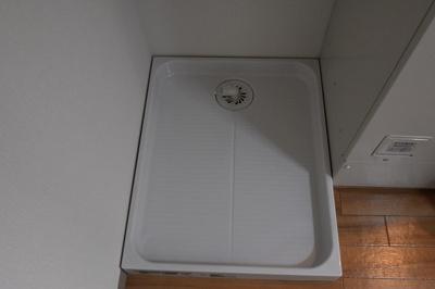室内に洗濯機が置けるのも嬉しいポイント