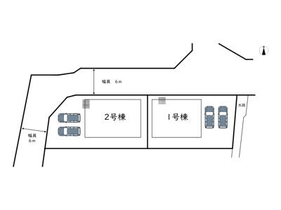 【区画図】たつの市龍野町中村第6/全2棟