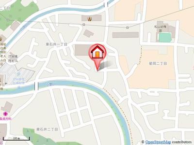 【地図】ラミエール東石井