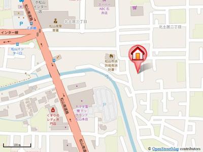 【地図】エスポワール34 G棟