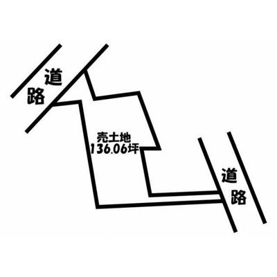 【区画図】南アルプス市 小笠原 売地