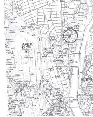 【地図】北葛飾郡松伏町 調整区域 売工場・倉庫