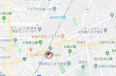 【地図】レオパレス大和田(36733-210)