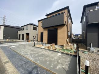 調整区域の開発の為敷地が約41.1坪から約54.1坪と広く全区画がゆったりしたプランです。