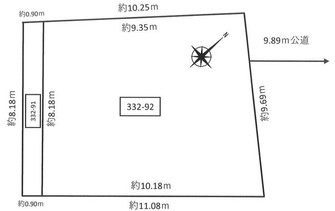 【土地図】清田8条2丁目 土地