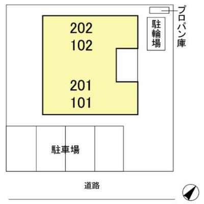 【区画図】ハイツNEXT