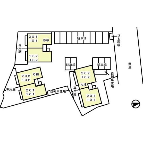 【区画図】グランメール A/B/C