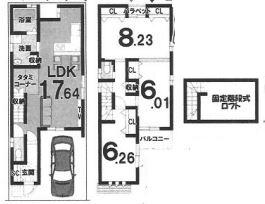 戸建プラン: 土地1900万円、建物1599万円、 面積88.50㎡(1F43.30㎡、2F45.20㎡) 木造2階建て、3LDK、駐車場1台、 建築確認申請費用60万円、外構費30万円別途要(税別)
