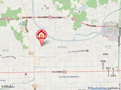 【地図】パルモ関谷