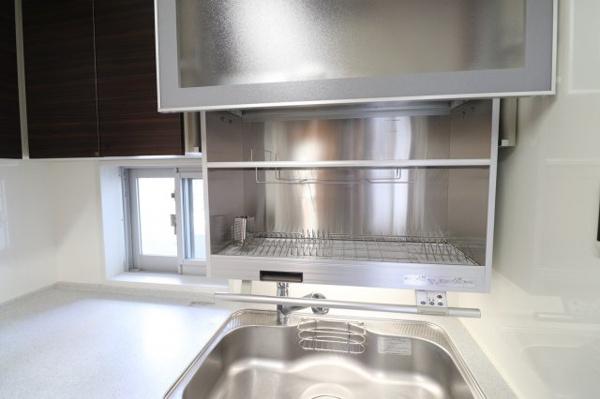 【キッチン】オプションで食器乾燥機を増設洗い物も楽々♪