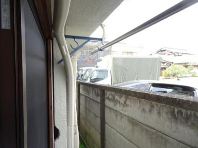 橋本荘 物干しがあります