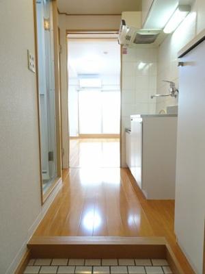 マンション太田 玄関から見た室内