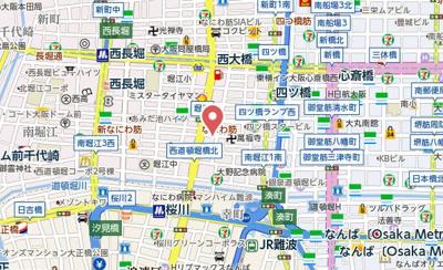 【地図】ベルフレージュ南堀江