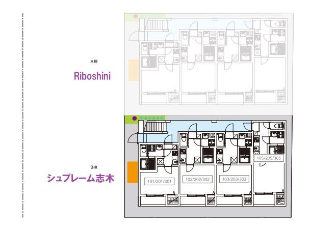 【区画図】シュプレーム志木(シュプレームシキ)