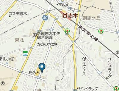 【地図】シュプレーム志木(シュプレームシキ)