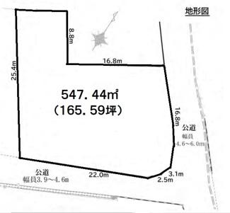 【土地図】桐生市境野町2丁目売地