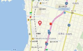 【地図】フレグランス新居